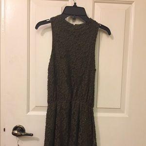 Dresses & Skirts - High Neck Army green dress